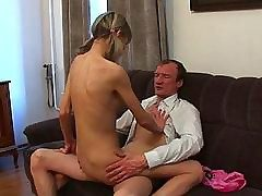 Hot couch fucking lesson