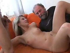 Youthfull chick gets wicked and enjoys fuck-fest with old banger