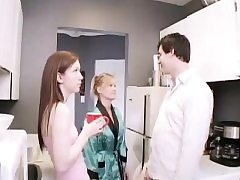 Teen public rest room pee Janine plowing an older fellow
