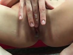 Skinny slut has her tight pussy annihilated