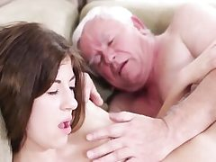 Hardcore old youthful sex with sloppy grandpa