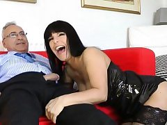 Youthfull dilettante hottie loves getting fucked by an aged youngster