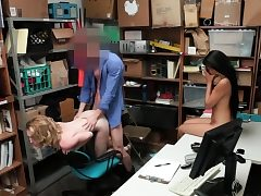 Bonnie Grey and Maya Bijou spread her gams to pulverize firm