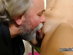 Natural bookworm is enticed and fucked by senior teac49Lql