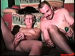 Father and daughter crack each others holes! Antique
