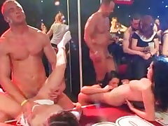 Dolls boinked on a soiree by strippers