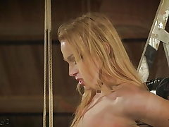 Teenage is tied up and fucked gets punished spanked kinky