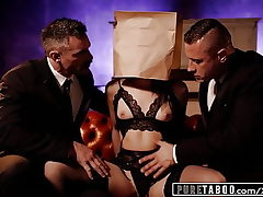 Unspoiled TABOO Emily Willis Submits for Her 2 Dom Daddies