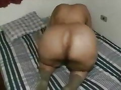 Grannie uses her Big Ass to bust a dudes nutsack