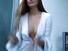 Haley Kali dancing and showcasing cleavage