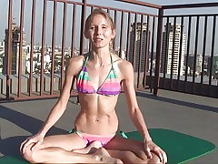 Naked Yoga Bikini Warmup Thailand with Elke