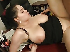 Amazing Chubby Lady with BIG TITTIES Sates Old Dude.