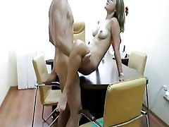 Office young slut gets doggystyled firm