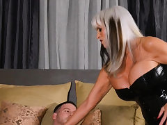 Blondie cougar pummeled