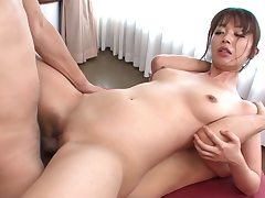 Assfuck for this red-hot Asian beauty blowing gigantic dicks
